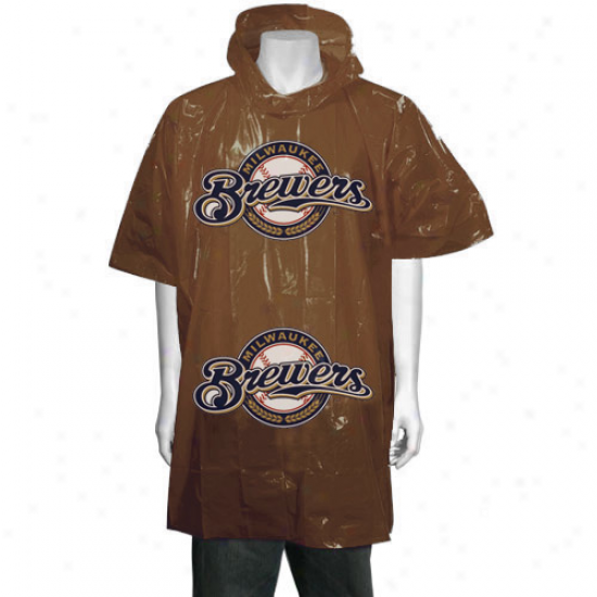 Milwaukee Brewers Gold Short Sleeve Poncho