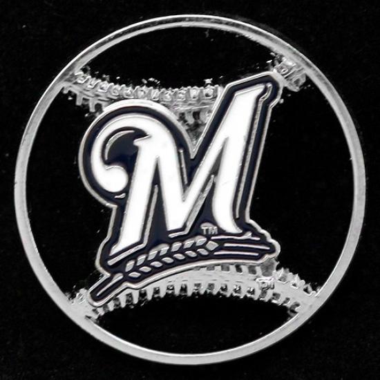 Mowaukee Brewers Hat : Milwaukee Brewers Team Logo Cut-out Baseball Pin