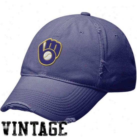 Milwaukee Brewers Cardinal's office : Nike Milwaukee Brewers Royal Blue Cooperstown Relaxed Vintage Adjustable Slouch Hat
