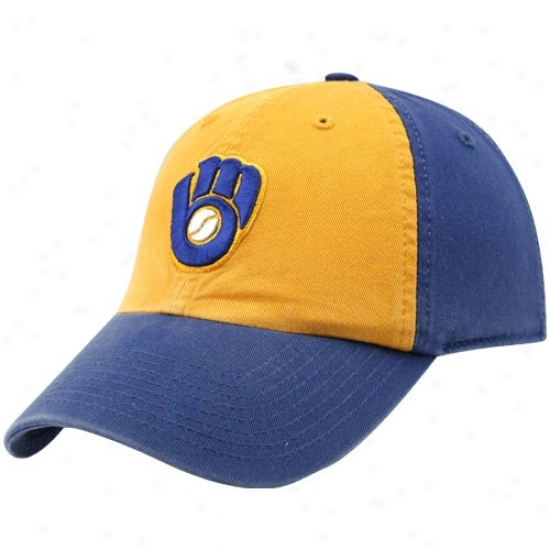 Milwaukee Brewers Hat : Twins Enterprise Milwaukee Brewers Franchise Mascot Fiyted Hat