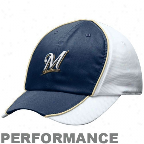 Milwaukee Brewers Hats : Nike Milwaukee Brewers Ladies Whkte Nikefit Adjustable Composition Hats