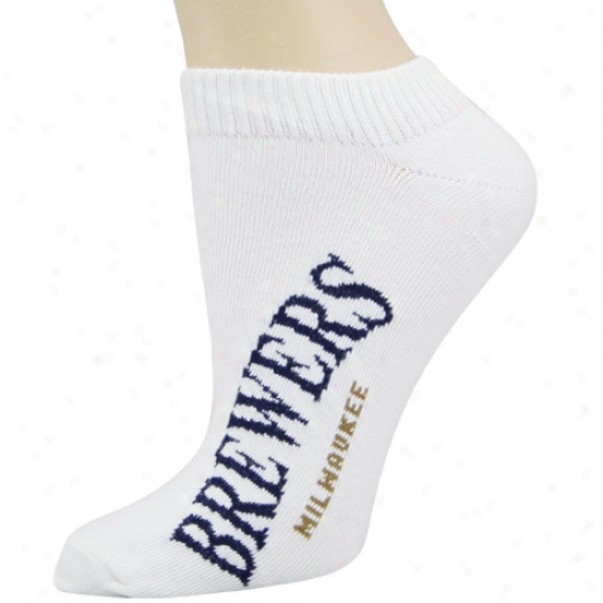 Milwaukee Brewers Ladies Whits Ankle Socks