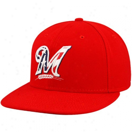Milwaukee Brewers Merchandise: New Epoch Milwaukee Brewers Red Stars & Stripes On-field  59fifty Fitted Hat