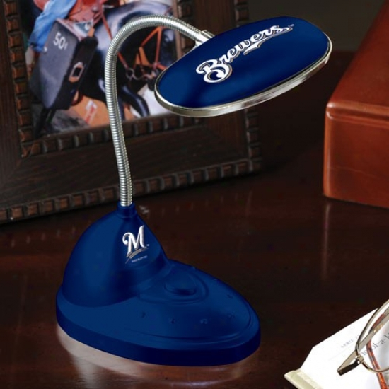 Milwaukee Brewers Navy Blue Led Desk Lamp