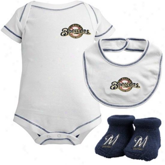 Milwaukee Brewers Newborn Three-piece Gift Set