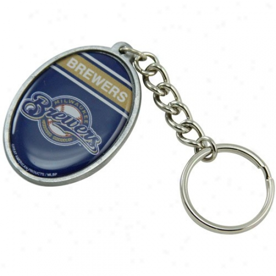 Milwaukee Brewers Oval Keychain