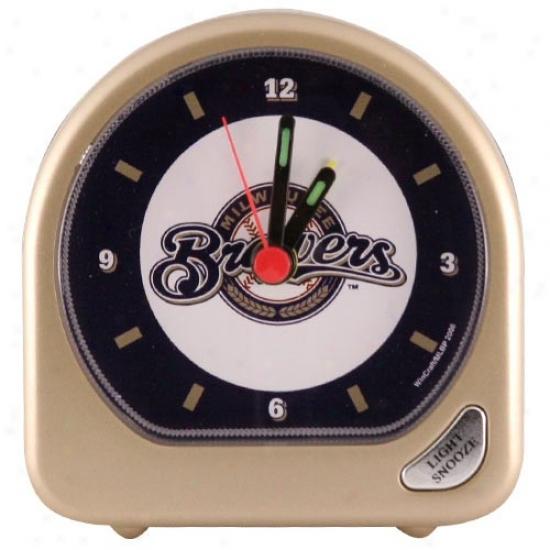 Milwaukee Brewers Plastic Alarm Clock