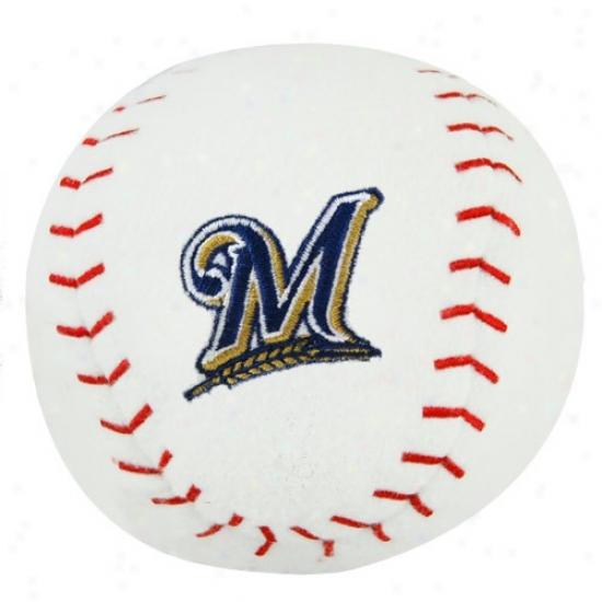 Milwaukee Brewers Plush Team Baseball Rattle