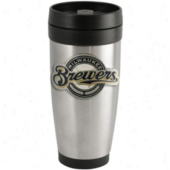 Milwaukee Brewers Stainless Steel Team Logo Thermo Travel Tumbler