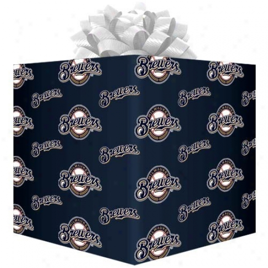 Milwaukee Brewers Team Logo Gift Wrap Paper