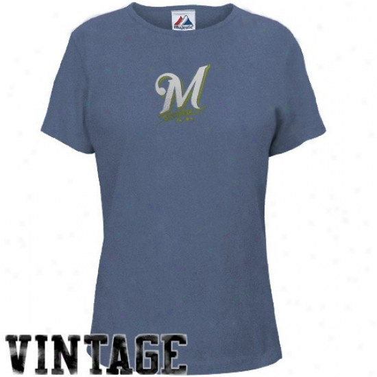 Milwaukee Brewers Tee : August Milwaukee Brewers Ladies Heathered Dismal Big Time Play Tee