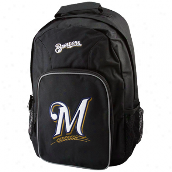 Milwaukee Brewers Youth Black Southpaw Backpack