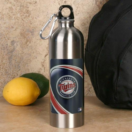 Minnesota Twins 750ml Stainless Steel Water Bottle W/ Carabiner Clip