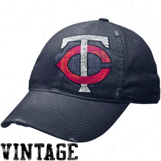 Minnesota Twins Acme : Nike Minnesota Twins Navy Azure Stacked Up Heritage 86 Unisex Adjustzble Cap