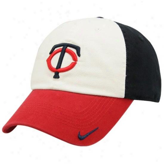 Minnesota Twins Hats : Nike Minnesota Twins Cream Stadium Adhustable Hats