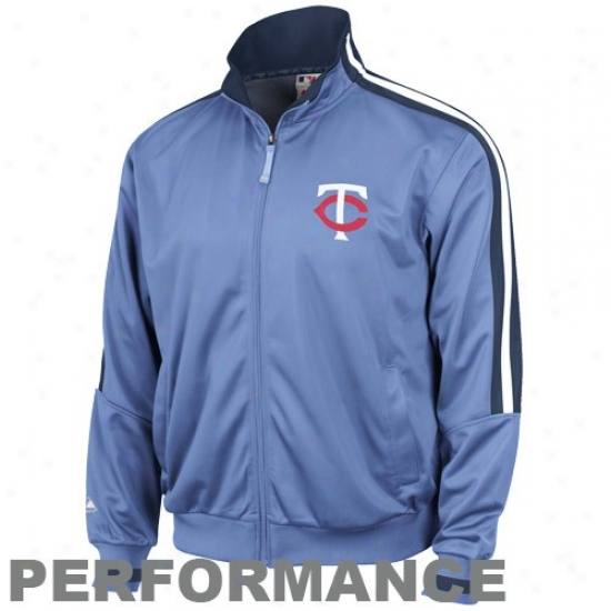 Minnesota Twins Jackets : August Minnesota Twins Light Blue Cooperstown Therma Base Performance Track Jackets