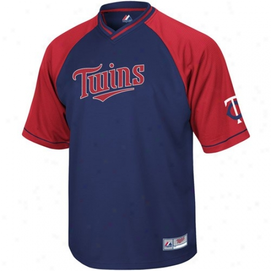 Minnesota Twins Jerseys : Majestic Minnesota Twins Youth Full Force V-neck Jerseys - Navy Blue
