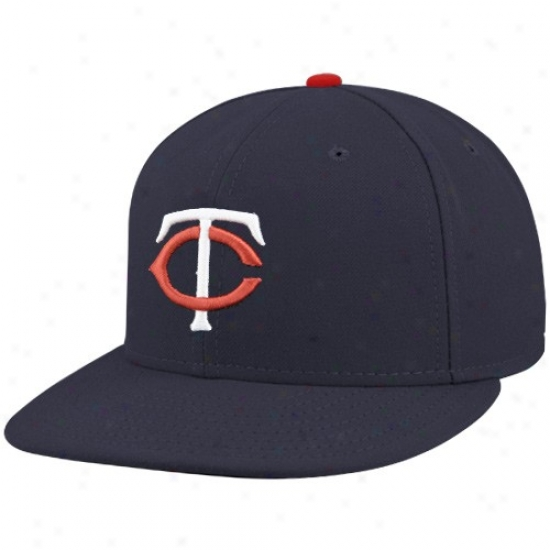 Minnesota Twins Merchandise: New Era Mlnnesota Twins Navy Blue On-field 59fifty Fittwd Hat