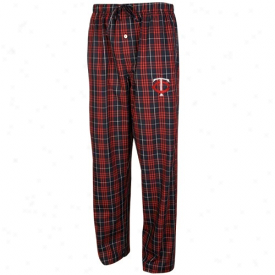 Minnesota Twins Navy Blue Plaid Event Pajama Pants
