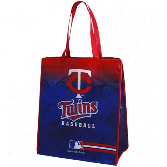 Minnesota Twins Royal Blue-red Fade Reusable Tote Bag