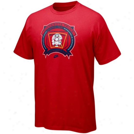 Minnesota Twins Shirt : Nike Minnesota Twins Red Cooperstown Hey Batta Batta Shirt