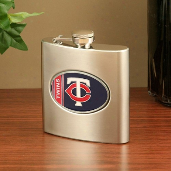 Minnesota Twins Stainless Steel Flask