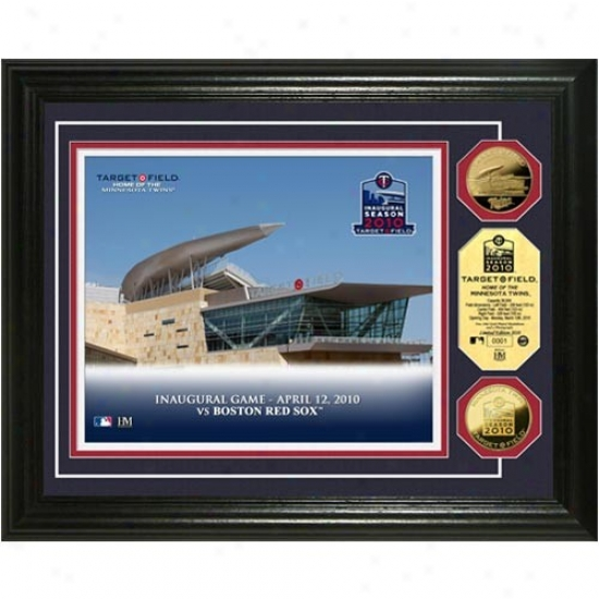 """minnesota Twins Target Opportunity """"inaugural Season"""" 24kt Gold Coin Photo Mint"""