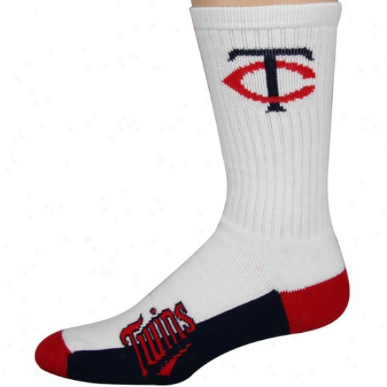 Minnesota Twins Team Color Blok Large Socks