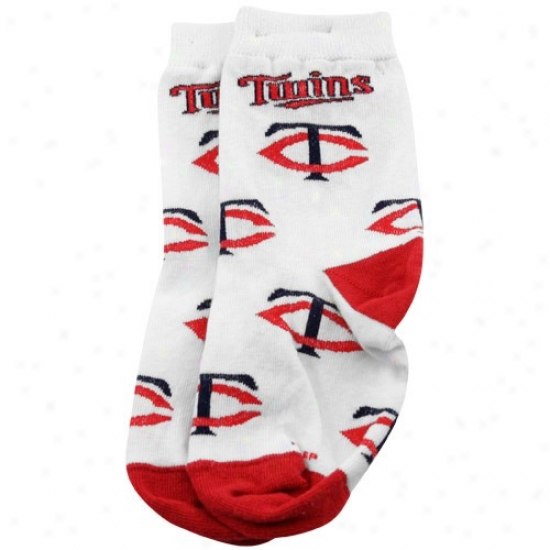 Minnesota Twins Toddler White All Over Team Logo Socks