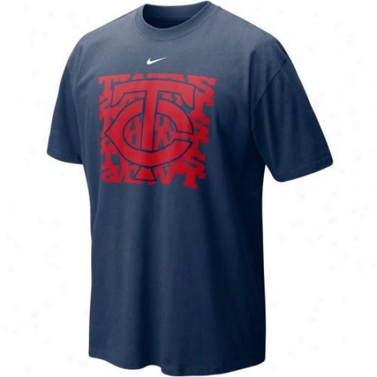 Minnesota Twins Tshirts : Nike Minnesota Twins Navy Blue Undercover Logo  Tshirts