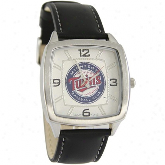Minnesota Twins Guard : Minnesota Twins Retro Watch W/ Leather Band