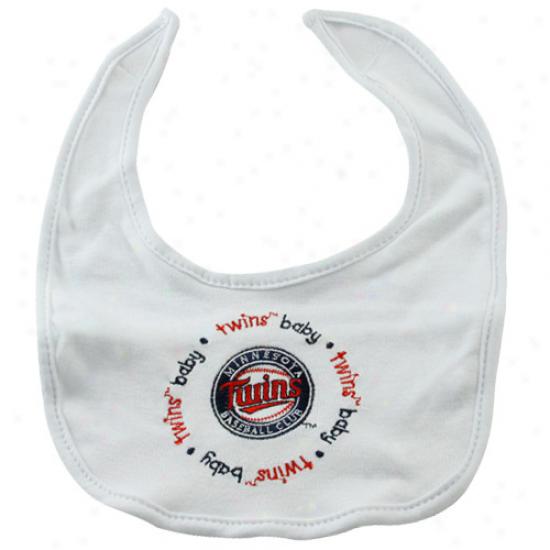 Minnesota Twins White Baby Bib