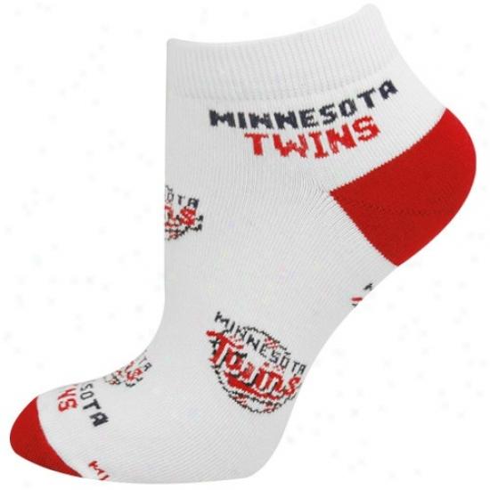 Minnesota Twins White Ladies 9-11 Team Logo Ankle Socks