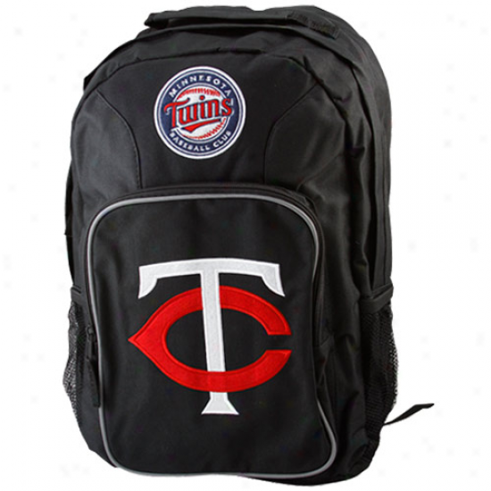 Minnesota Twins Youth Black Southpaw Backpack