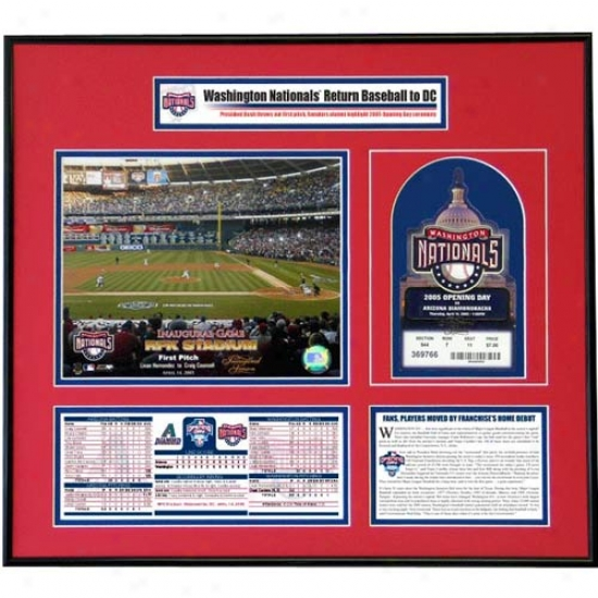 Nationals Opening Day Ticket Frame  Nationals Mark Return To Dc With 5-3 Get  Over Diamondbacks
