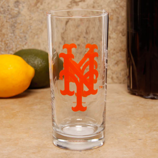 New York Mets 15oz. Satin Etch Glss