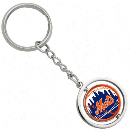 New York Mets 3d Spinnkng Basegall Keychain