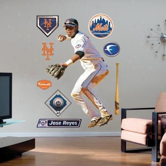 New York Mets #7 Jose Reyes Player Fathead