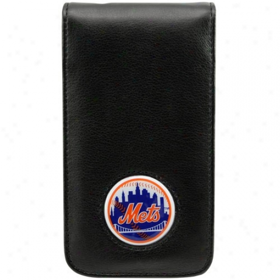 Repaired York Mets Blck Leather Team Logo Iphone Case