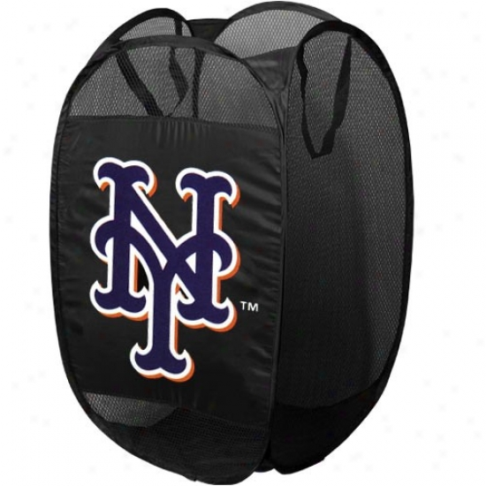 New York Mets Black Pop-up Sport Hamper