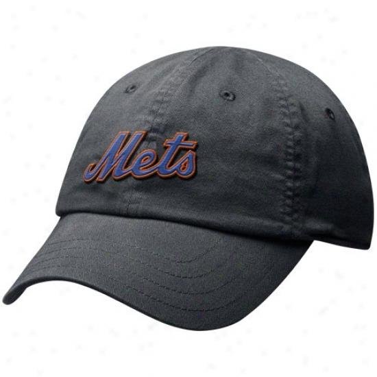 New York Mets Cap : Nike Recent York Mets Ladies Black Infield Shift Relaxed Fit Adjustable Exceed