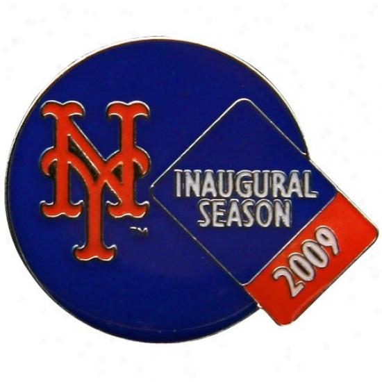 New York Mets Caps : Nrw York Mets 2009 Citi Field Inaugural Season Die-struck Pin