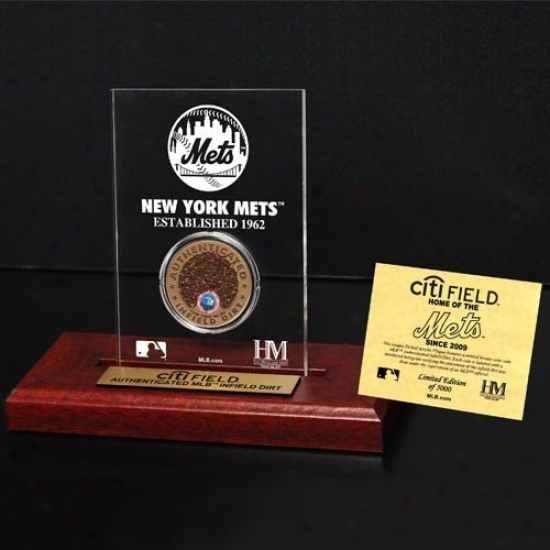 New York Mets Citi Field Infield Dirt Coin Etched Acrylic