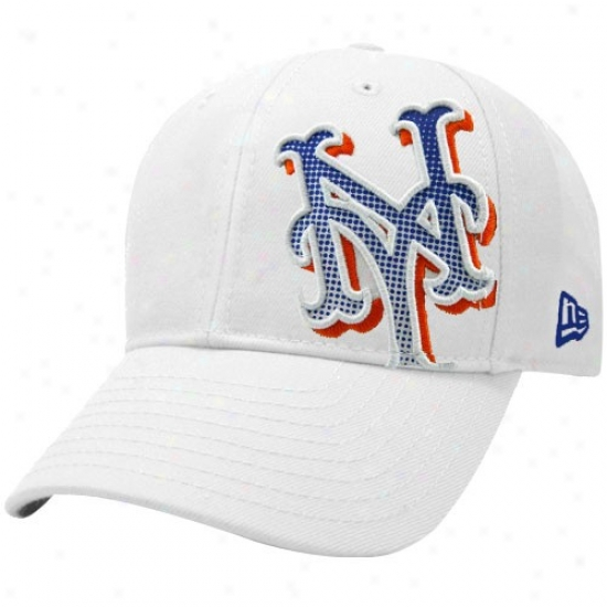 New York Mets Gear: New Era Recent York Mets Happy Dot Shimjer Flex Fit Hat