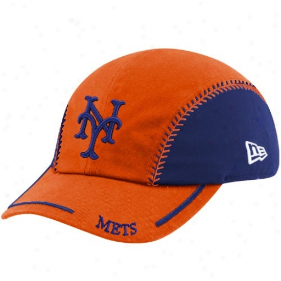 Nee York Mets Hats : New Era New York Metts Toddler Orange-royal Blue Team Ball Adjustable Hats
