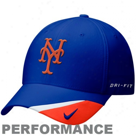 New York Mets Hats : Nike New York Mets Imperial Blue Dri-fit Bright Gay Adjustable Performance Hats