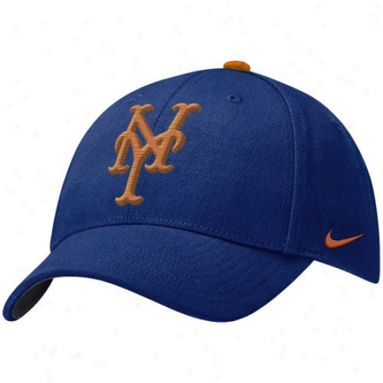 New York Mets Hats : Nike New York Mets Royal Blue Wool Classic Adjustable Hats