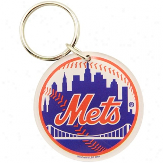 New York Mets High Definition Baseball Keychain
