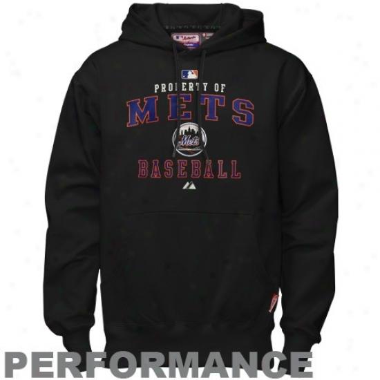 Just discovered York Mets Hoodie : Majestic New York Mets Black Property Of Performance Hoodie