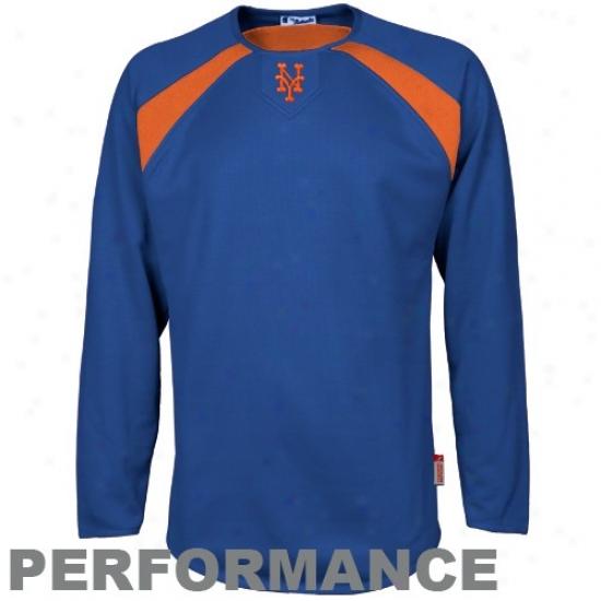 New York Mets Hoody : Majestic New York Mets Royal Blue Therma Base Tech Acting Hoody